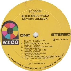 60 BUFFALO - ATCO 384 - NEVANDA JUKEBOX R1