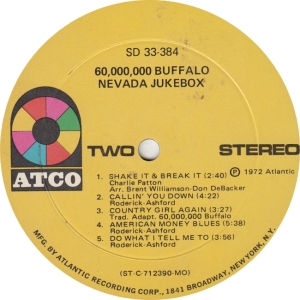 60 BUFFALO - ATCO 384 - NEVANDA JUKEBOX R2