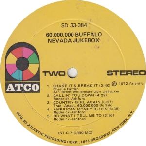 60 BUFFALO - ATCO 384 - NEVANDA JUKEBOX R2
