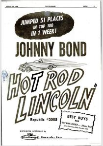 Bond, Johnny - 08-60 - Hot Rod Lincoln