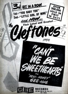 Cleftones - 07-56 - Can't We Be Sweethearts
