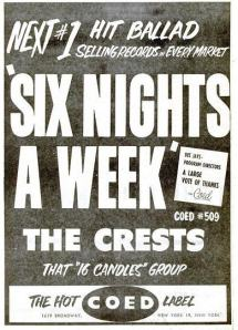 Crests - 03-59 - Six Nights a Week