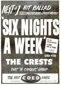 Crests - 03-59 - Six Nights a Week