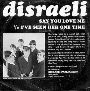 Disraeli - Mantra 114 - Say You Love Me