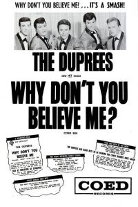 Duprees - 08-63 - Why Don't You Believe Me