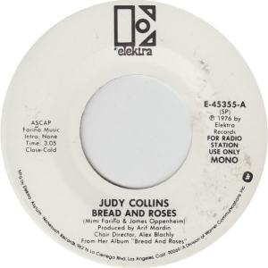 ELEKTRA 45355 - COLLINS JUDY - BREAD AND ROSES dj MONO