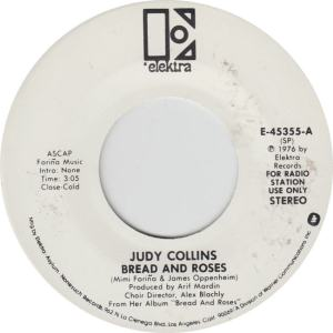 ELEKTRA 45355 - COLLINS JUDY - BREAD AND ROSES dj STEREO