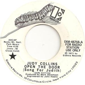 Elektra 45755 DJ - Collins, Judy - Open the Door