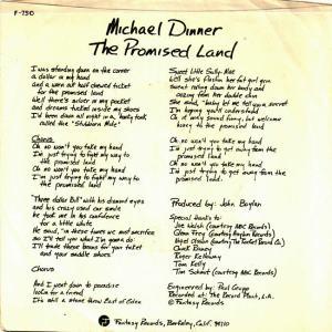 Fantasy 750 DJ PS 2 - Dinner, Michael - The Promised Land