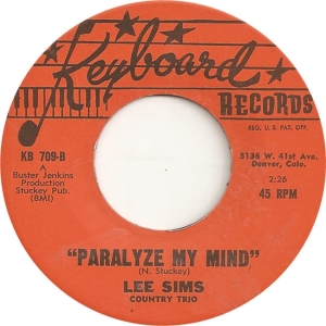 Keyboard 709 - Sims, Lee - Paralyze My Mind
