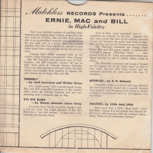 Matchless No # PC B - Ernie Mac Bill - Presents I