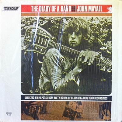 Mayall's Bluesbreakers - London - Diary