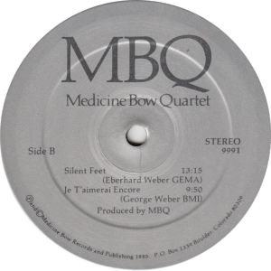 MEDICINE BOW QUARTET - MED BOW 9991 - MBQ R2