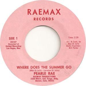 Raemax 1 - Rae, Pearle - Where Does Summer Go