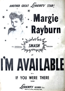 Rayburn, Margie - 09-57 - I'm Available