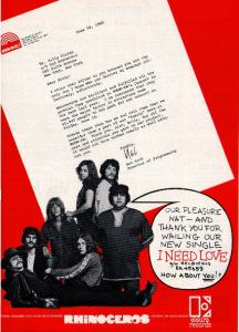 Rhinoceros - 1969 BB - I Need Love