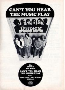 Rustix - 1969 BB - Can't You Hear the Music Play
