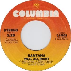 Santana - 1978 - well all right