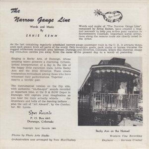 Spur 6343-4 - Becky Ann - Narrow Gauge C2
