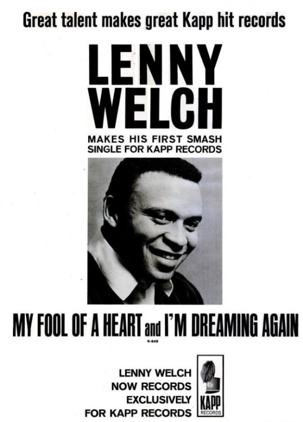Welch, Lenny - 02-65 - My Fool of a Heart