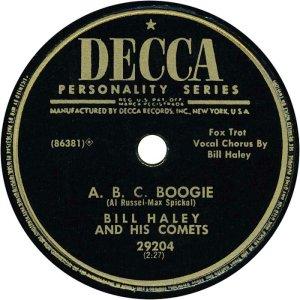 1954-07 - DECCA 29204 - HALEY & COMETS B