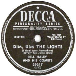 1954-10- DECCA 29317 - HALEY & COMETS A