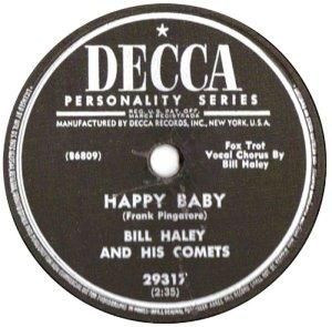 1954-10- DECCA 29317 - HALEY & COMETS B