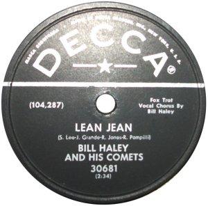 1958-07- DECCA 30681 - HALEY & COMETS A