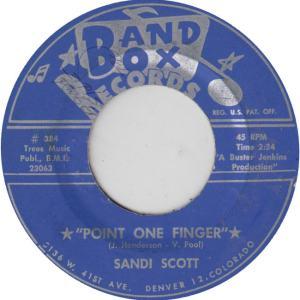 BAND BOX 384 - SCOTT, SANDI - POINT ONE FINGER