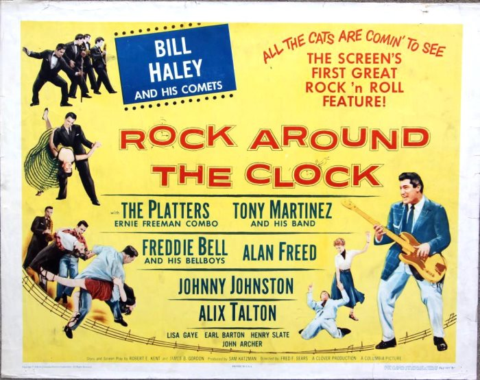 MOVIE ROCK AROUND THE CLOCK POSTER