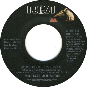 RCA 8650 - JOHNSON, MICHAEL - SOME PEOPLE'S