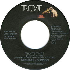 RCA 8650 - JOHNSON, MICHAEL - THAT'S THAT