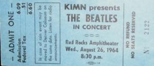 Ticket - RED ROCKS