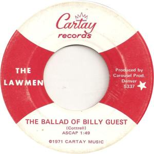 Cartay 5337 - Lawmen - The Ballad of Billy Guest