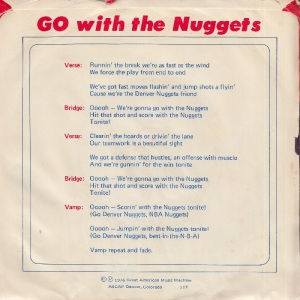 GREAT AMERICAN 117 - NELSON SUZANNE - GO WITH NUGGESTS PS B