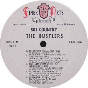 Hustlers - Finer Arts LP 103 - Hustlers Ski Country SD 1 (1)