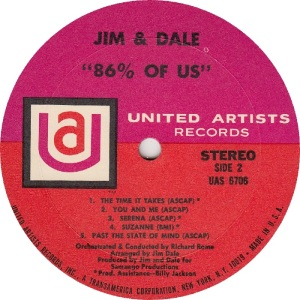 JIM AND DALE - UA 6706 - RB