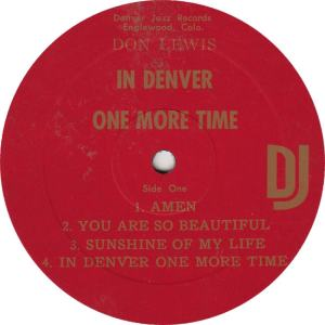 LEWIS, DON - DJ 1 - ONE MORE TIME R1