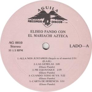 PANDO - AGUILA 10 - RA