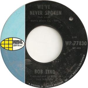 World Pacific 77830 - Lind, Bob - We've Never Spoken
