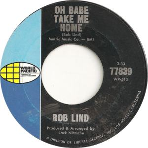 World Pacific 77839 - Lind, Bob - Oh Babe Take Me Home