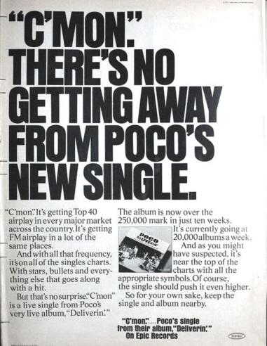 Billboard Ad April, 1971