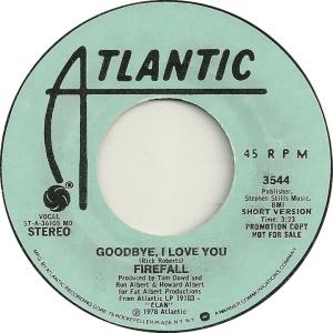 ATLANTIC 3544 - FIREFALL - 1978 DJ A