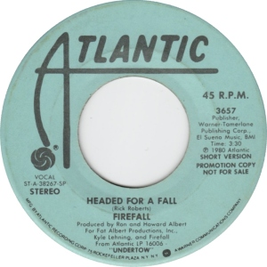 ATLANTIC 3657 - FIREFALL - DJ 1 1980