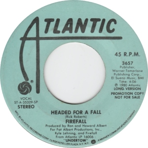 ATLANTIC 3657 - FIREFALL - DJ 2 1980