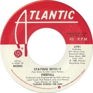 ATLANTIC 3791 FIREFALL - 1980 DJ A