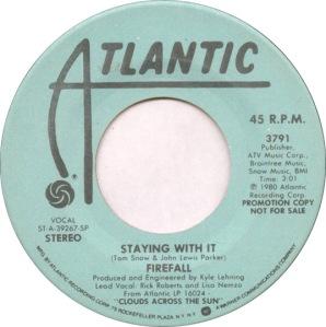 ATLANTIC 3791 FIREFALL - 1980 DJ B