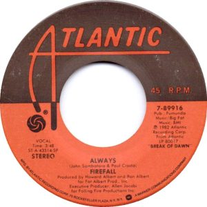 ATLANTIC 89916 - FIREFALL - A