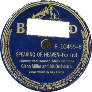 BLUEBIRD 10455 - MILLER GLENN - B