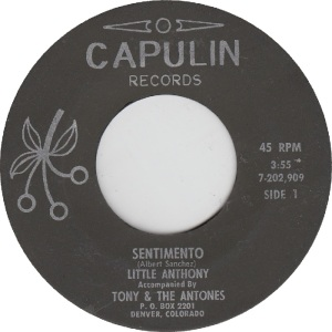 Capulin 202909 - Little Anthony & Antones - Sentimento